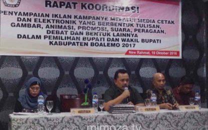 KPUD Boalemo Gelar Rapat Koordinasi Terkait Iklan & Pemberitaan Media Di Pilkada