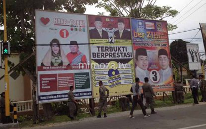 Memasuki Masa Tenang Kampanye, APK Mulai Diturunkan