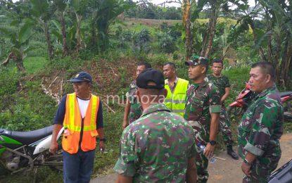 Anggota Kodim 1304 Dikerahkan Bantu Pemerintah Atasi Jembatan Putus Di Sumalata