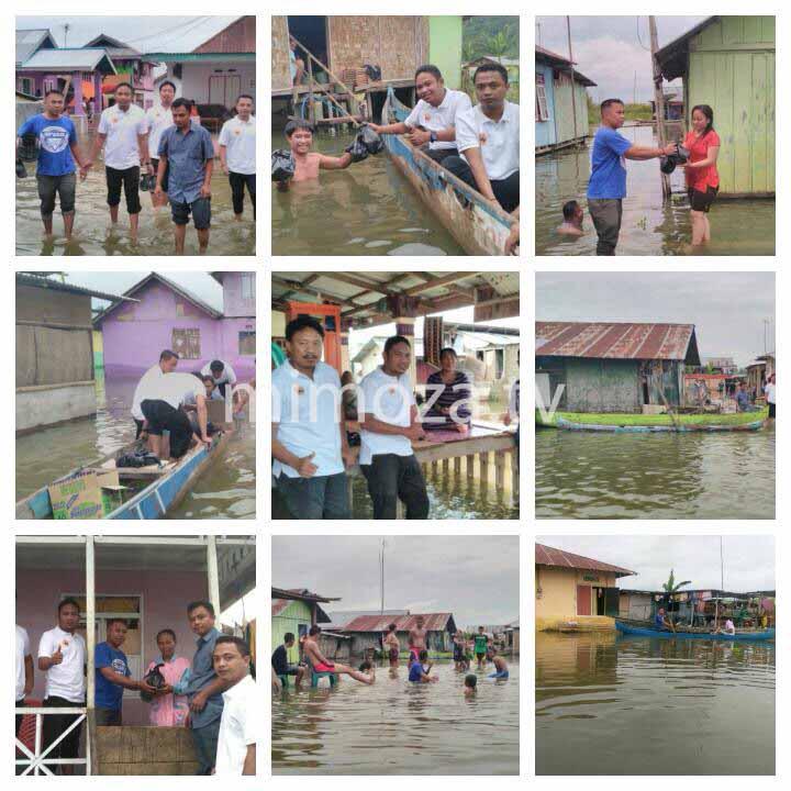 Garda Nasdem Mengunjungi Korban Banjir Di Kabupaten