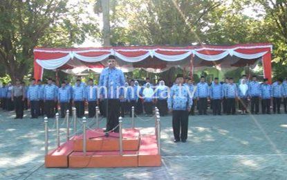 Walikota Pimpin Apel Korpri Rangkaian HUT Kota Gorontalo Ke 289