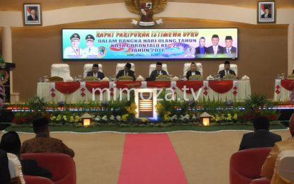 Rapat Paripurna Istimewa Peringatan HUT Kota Gorontalo Ke 289