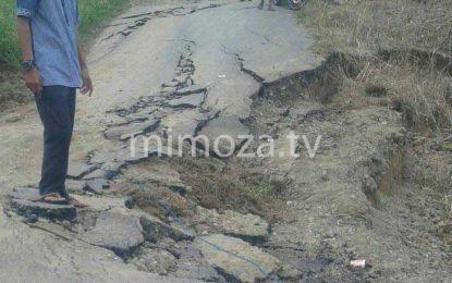 Jalan Penghubung Menuju Dua Desa Di Wonosari Tidak Bisa Dilalui