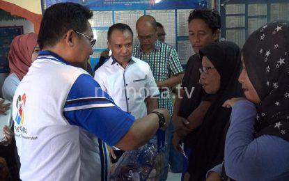 Walikota Serahkan Bantuan Korban Luapan Sungai Bolango
