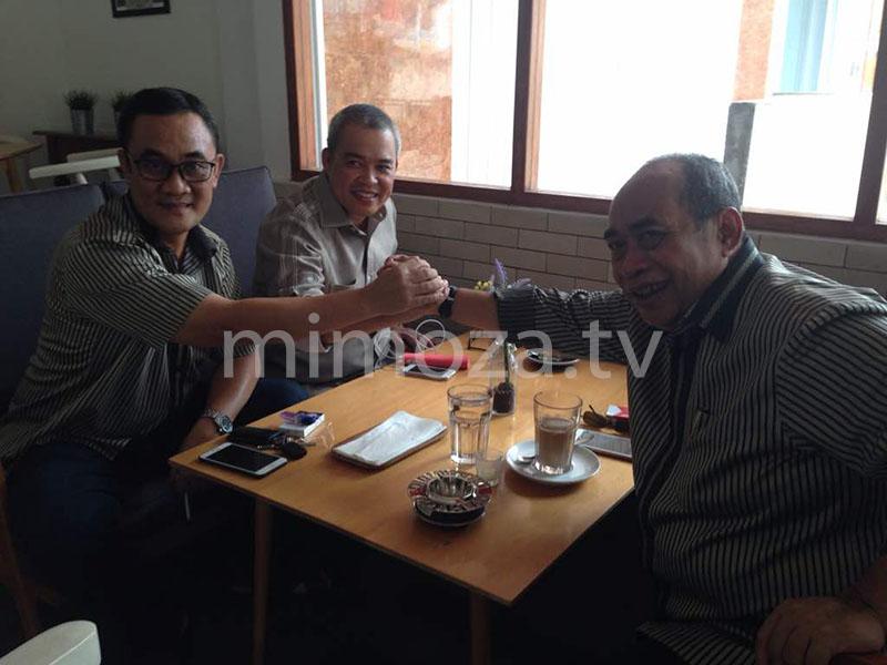 Adhan Dambea, CBD dan Ramdan Datau saat makan siang bersama