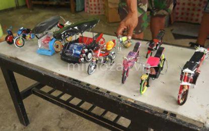 Anak Panti Asuhan Sulap Limbah Kaleng Jadi Miniatur Mainan Anak