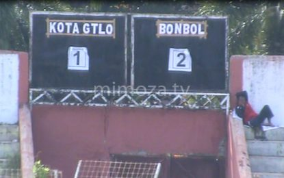 Semifinal Piala kemenpora, Bone Bolango Kalahkan Kota Gorontalo 2-1