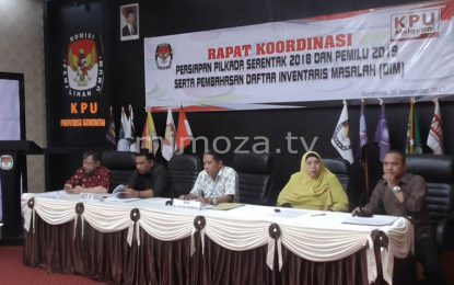 KPU Provinsi Gelar Rapat Persiapan Pilkada Dan Pemilu 2019