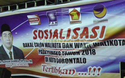 Adhan Dambea – Charles Budi Doku Juga Didukung Partai Nasdem Kota Gorontalo