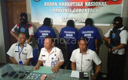 BNNP Gorontalo Tangkap 3 Kurir Narkoba Lintas Provinsi