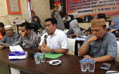 Total KPU Kota Gorontalo Terima Syarat Administrasi 18 Parpol