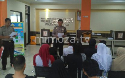 Polres Gorontalo Kota Mediasi Pelajar Yang Terlibat Tawuran