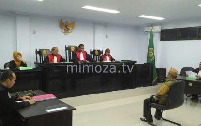 Amin Mootalu Jalani Sidang Perdana Kasus Narkoba di PN Kota Gorontalo