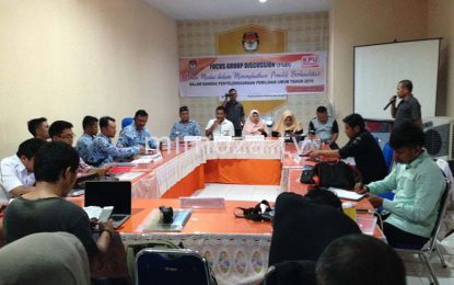 KPU Bone Bolango Gelar Forum Grup Diskusi Terkait Peran Media Dalam Pemilu