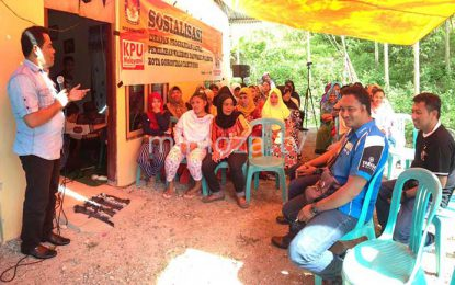KPU Kota Gorontalo Gelar Sosialisasi Di Pegunungan Limehe