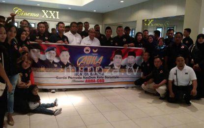Garda Pemuda Nasdem Kota Gorontalo Nonton Bareng Film Dilan Bersama ADHA – CBD
