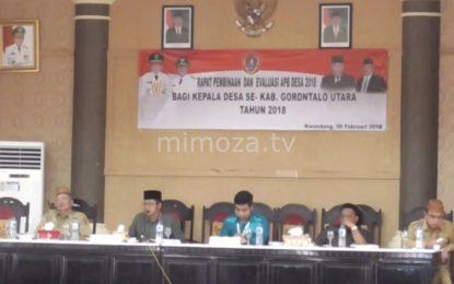 Bupati Evaluasi Perkembangan Desa Di Gorontalo Utara