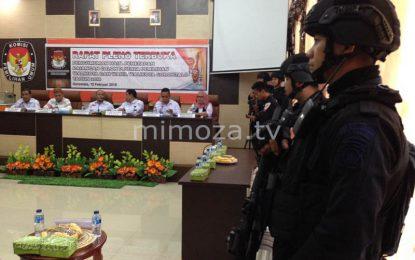 Penetapan Pasangan Calon, KPU Kota Gorontalo Dijaga Ketat