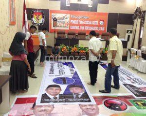 KPU Kota Lakukan Validasi Alat Peraga Kampanye Bersama Tim Pemenangan Paslon