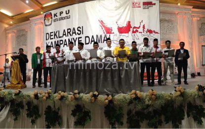 KPU Kota Serukan Anti Hoax, Sara Dan Politik Uang Dalam Deklarasi Kampanye Damai