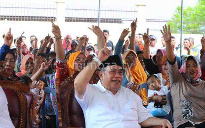 Kampanye Di Leato Selatan, Adhan Janjikan Pemekaran Kelurahan Ololalo