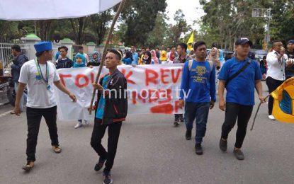 Tolak Undang-Undang MD3, Mahasiswa Universitas Gorontalo Gelar Aksi Unjuk Rasa