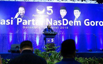 Surya Paloh Hadiri Konsolidasi Partai NasDem Se-Gorontalo Bersama Ribuan Kader