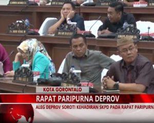 Warta 67 – (Video) Aleg Deprov Soroti Kehadiran SKPD Pada Rapat Paripurna