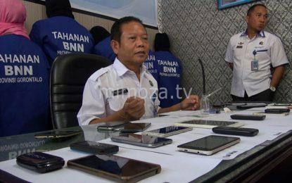 BNN Provinsi Amankan 1 Bandar, 2 Kurir, Dan 5 Pengguna Narkoba Di Popayato