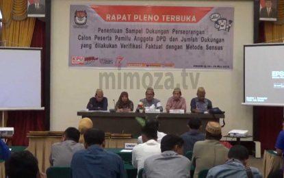 KPU Provinsi Gorontalo Gelar Rapat Pleno Pelaksanaan Verifikasi Faktual Calon Anggota DPD RI