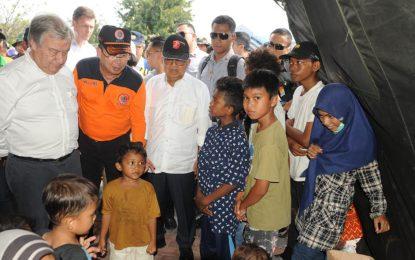 Jusuf Kalla, Antonio Guterres Kunjungi Palu