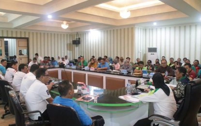 Arahan Nelson Saat Rapim Kegiatan Evaluasi e-Monep Terhadap Penyerapan Pelaksanaan Program/Kegiatan Dana APBD Tahun 2018