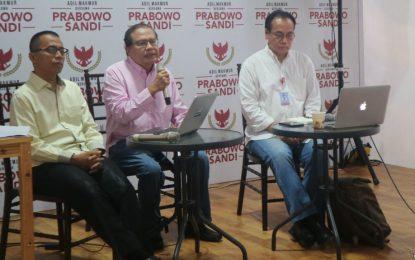 Bila Menang, Tim Prabowo –Sandi Targetkan Pertumbuhan Ekonomi 6 – 6,5 Persen Pada 2020
