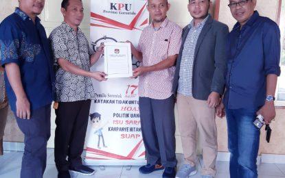 KPU Terima LADK Calon Anggota DPD RI Rahmiyati Yahya